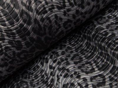 Stepper Jackenstoff - Leomuster - grau/schwarz