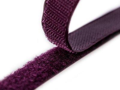Klettband zum Aufnähen Flauschband & Hakenband ca. 20 mm -aubergine