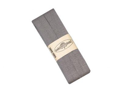 Jersey Schrägband Oaki doki gefalzt 20 mm x 3 m - schlamm