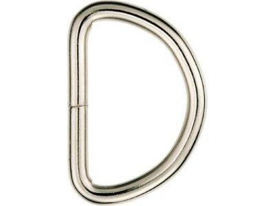 Prym 2 Halbrundringe / D-Ringe 40 mm - silberfarben