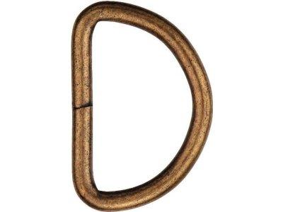 Prym 2 Halbrundringe / D-Ringe 40 mm - altgoldfarben