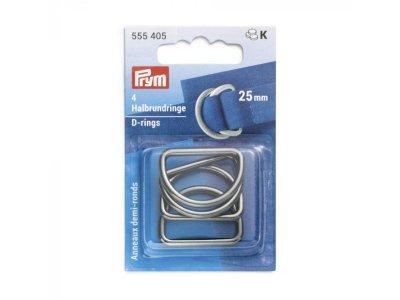 Prym 4 Halbrundringe / D-Ringe 25 mm - anthrazit