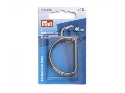 Prym 2 Halbrundringe / D-Ringe 40 mm - anthrazit