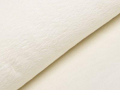 Französischer Wellnessfleece Teddyplüsch - uni beige