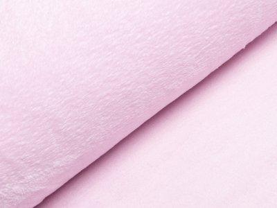 Französischer Wellnessfleece Teddyplüsch - uni rosa