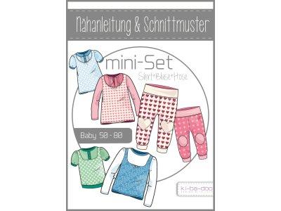 Papierschnittmuster ki-ba-doo Baby Mini Set Shirt-Bluse-Hose Mädchen
