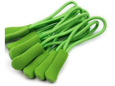 RV-Anhänger/Zipper Schlaufe 6,6 cm 10 Stück - grün