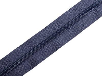 Endlosreißverschluss 5mm - graublau