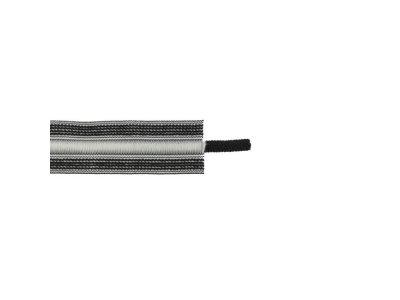 Kordelzug elastisch - grau/schwarz