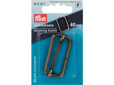 Prym Leiterschnalle Metall 40mm - altgoldfarben