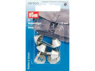 Prym 4 Bodennägel für Taschen 15mm - silberfarben