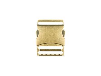 Steckschnalle Metall - 50 mm -altgold
