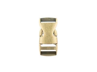 Steckschnalle Metall - 25 mm -altgold