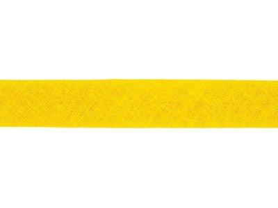 Hochwertiges Schrägband Baumwolle gefalzt 20 mm - uni gelb
