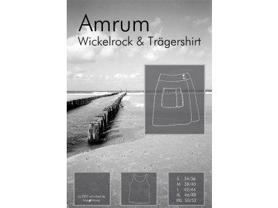 Papierschnittmuster Farbenmix Wickelrock & Trägershirt AMRUM - Damen