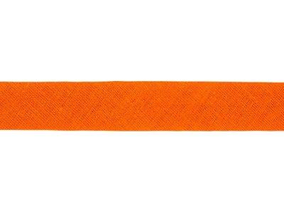 Hochwertiges Schrägband Baumwolle gefalzt 20 mm - uni orange