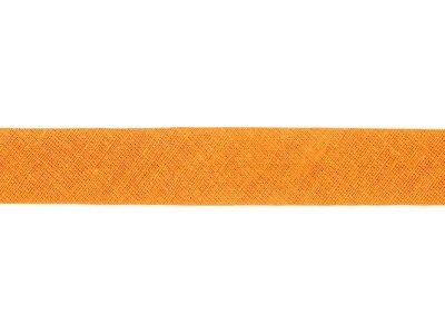 Hochwertiges Schrägband Baumwolle gefalzt 20 mm - uni helles orange