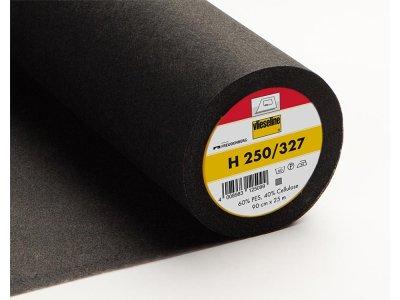 Bügeleinlage H250 fixierbar 90 cm - schwarz