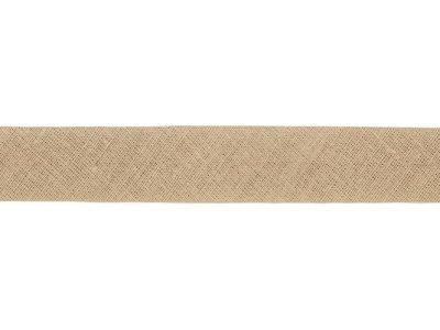 Hochwertiges Schrägband Baumwolle gefalzt 20 mm - uni schlamm