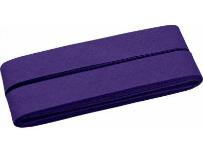 Hochwertiges Schrägband Baumwolle gefalzt 20 mm - 5 Meter Coupon - uni lila