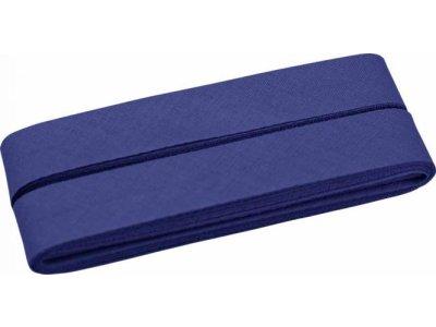 Hochwertiges Schrägband Baumwolle gefalzt 20 mm - 5 Meter Coupon - uni dunkles lila