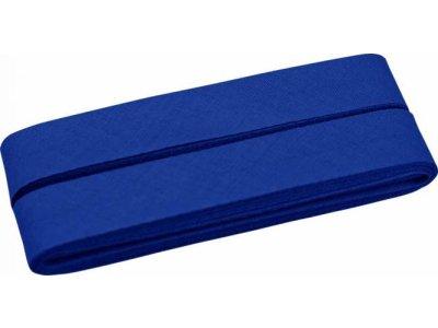Hochwertiges Schrägband Baumwolle gefalzt 20 mm - 5 Meter Coupon - uni royalblau