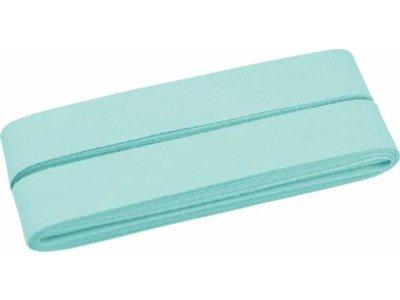 Hochwertiges Schrägband Baumwolle gefalzt 20 mm - 5 Meter Coupon - uni mint