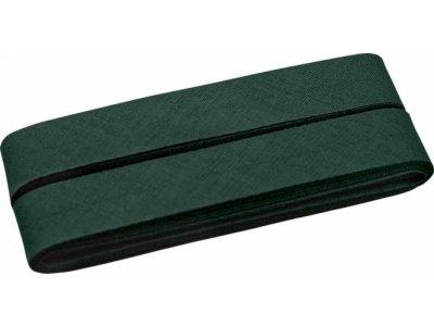 Hochwertiges Schrägband Baumwolle gefalzt 20 mm - 5 Meter Coupon - uni tannengrün