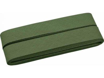 Hochwertiges Schrägband Baumwolle gefalzt 20 mm - 5 Meter Coupon - uni froschgrün