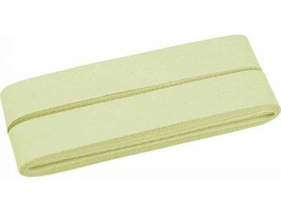 Hochwertiges Schrägband Baumwolle gefalzt 20 mm - 5 Meter Coupon - uni pastell mint