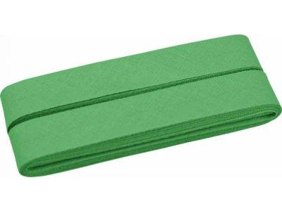 Hochwertiges Schrägband Baumwolle gefalzt 20 mm - 5 Meter Coupon - uni grün