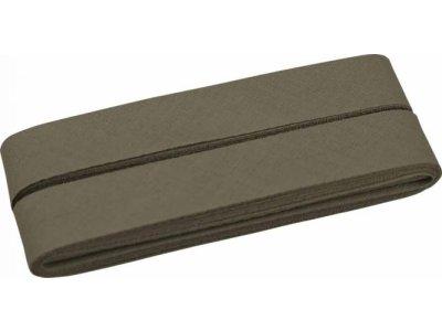 Hochwertiges Schrägband Baumwolle gefalzt 20 mm - 5 Meter Coupon - uni olive
