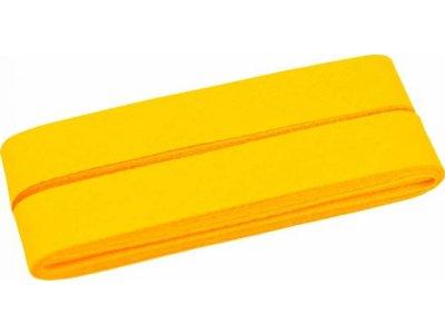 Hochwertiges Schrägband Baumwolle gefalzt 20 mm - 5 Meter Coupon - uni pastell orange