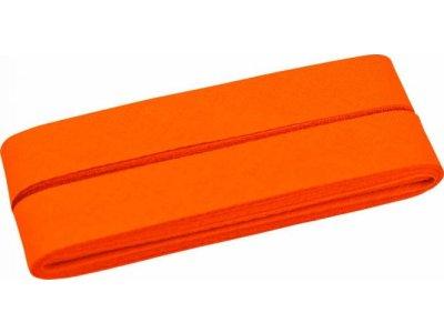 Hochwertiges Schrägband Baumwolle gefalzt 20 mm - 5 Meter Coupon - uni orange