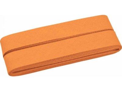 Hochwertiges Schrägband Baumwolle gefalzt 20 mm - 5 Meter Coupon - uni zartes orange