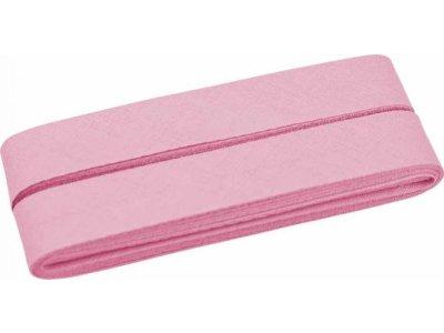 Hochwertiges Schrägband Baumwolle gefalzt 20 mm - 5 Meter Coupon - uni rosa