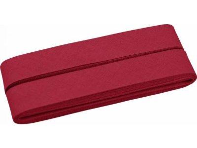 Hochwertiges Schrägband Baumwolle gefalzt 20 mm - 5 Meter Coupon - uni dunkles rot