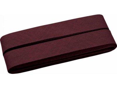 Hochwertiges Schrägband Baumwolle gefalzt 20 mm - 5 Meter Coupon - uni altbordeaux