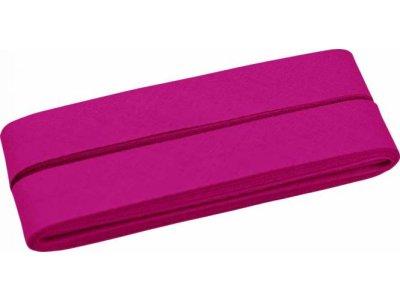 Hochwertiges Schrägband Baumwolle gefalzt 20 mm - 5 Meter Coupon - uni pink
