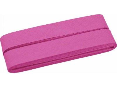 Hochwertiges Schrägband Baumwolle gefalzt 20 mm - 5 Meter Coupon - uni dunkles rosa