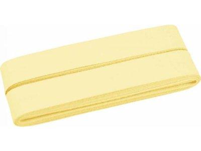 Hochwertiges Schrägband Baumwolle gefalzt 20 mm - 5 Meter Coupon - uni zartes gelb