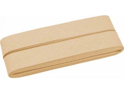 Hochwertiges Schrägband Baumwolle gefalzt 20 mm - 5 Meter Coupon - uni beige