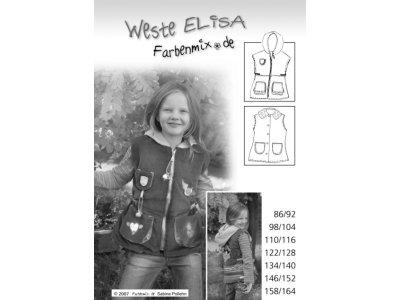 Schnittmuster ELISA Weste Farbenmix