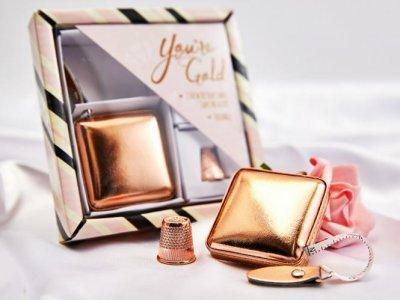 Display Geschenkset Maßband - goldfarben