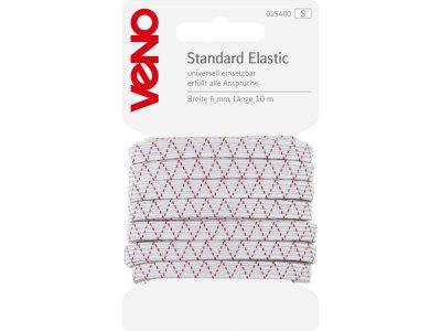 Standard Elastic SB 6mm x 10m - weiß