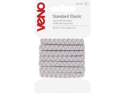 Standard Elastic SB 6mm x 5m Coupon - weiß