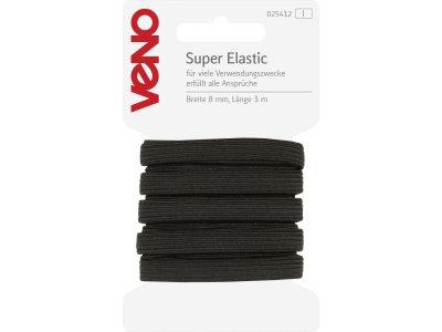 Super Elastic SB 8mm x 3m Coupon - schwarz