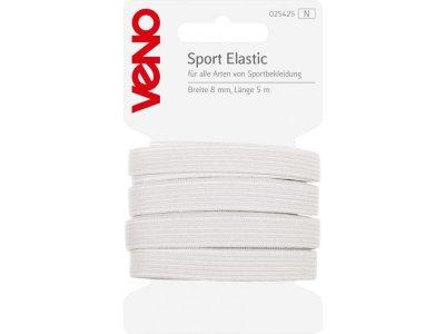 Sport Elastic SB 8mm x 5m Coupon - weiß