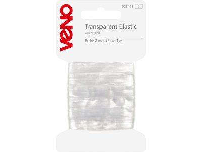 Elastic SB 8mm x 3m Coupon - transparent