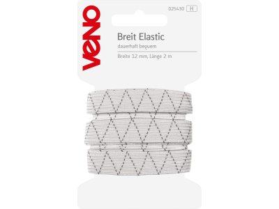 Breit Elastic SB 12mm x 2m - weiß